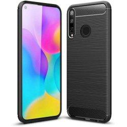 "Etui ""Carbon Case"" za Huawei P40 Lite E, črna barva"