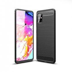 "Etui ""Carbon Case"" za Samsung Galaxy A51, črna barva"