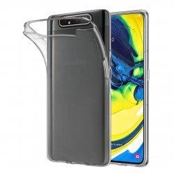 Silikonski etui za Samsung Galaxy A80, 0,5mm, Prozorna barva