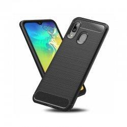 """Etui """"Carbon Case"""" za Samsung Galaxy A20E, črna barva"""