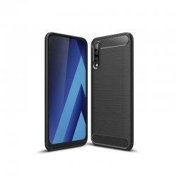 "Etui ""Carbon Case"" za Samsung Galaxy A70, črna barva"