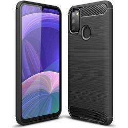 "Etui ""Carbon Case"" za Samsung Galaxy A21s, črna barva"