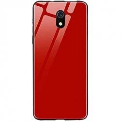 Glass Case za Xiaomi Redmi 8A, rdeča barva