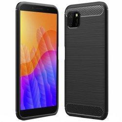 """Etui """"Carbon Case"""" za Huawei Y5p, črna barva"""