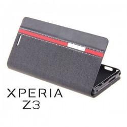 Preklopna Torbica za Sony Xperia Z3 Črna barva
