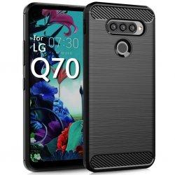 """Etui """"Carbon Case"""" za LG Q70, črna barva"""