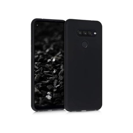 Silikonski etui za LG Q70,  črna barva