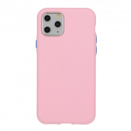 Silikonski etui za Samsung Galaxy A12,  svetlo roza barva