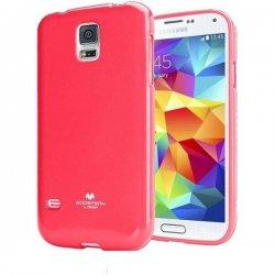 Silikon etui Goospery za Samsung Galaxy S5 + 2x Folija High-Quality ,Pink barva