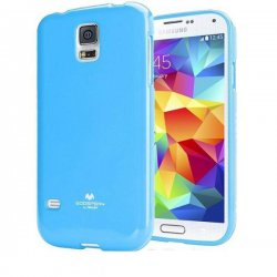 Silikon etui Goospery za Samsung Galaxy S5 + 2x Folija High-Quality ,Modra barva