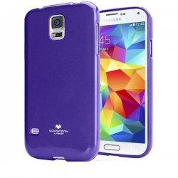 Silikon etui Goospery za Samsung Galaxy S5 + 2x Folija High-Quality ,Vijola barva
