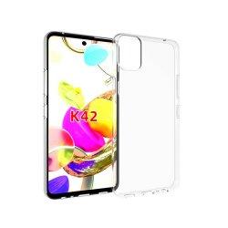 Silikonski etui za LG K42, 0,5mm, Prozorna barva