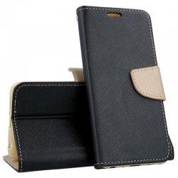 "Preklopna torbica ""Fancy"" za Samsung Galaxy A21S, črno zlata barva"