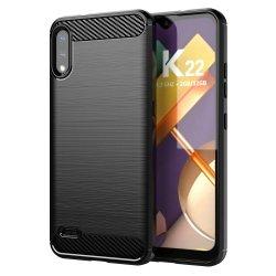 """Etui """"Carbon Case"""" za LG K22, črna barva"""