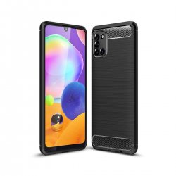 "Etui ""Carbon Case"" za Samsung Galaxy A31, črna barva"