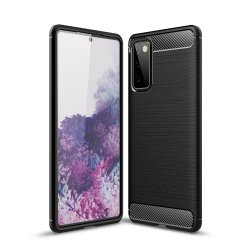 "Etui ""Carbon Case"" za Samsung Galaxy S20 FE, črna barva"