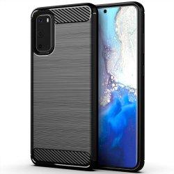 "Etui ""Carbon Case"" za Samsung Galaxy S20, črna barva"