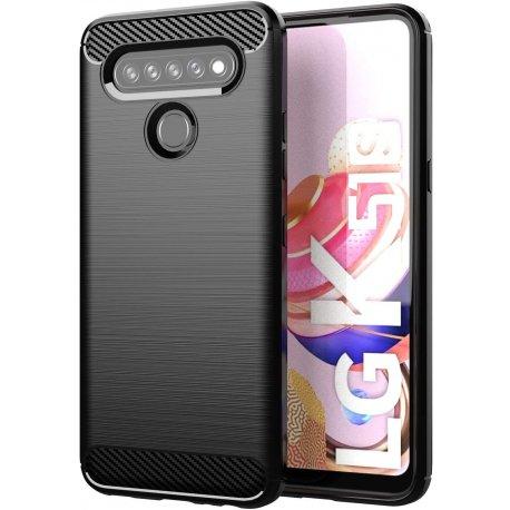 """Etui """"Carbon Case"""" za LG K51s, črna barva"""