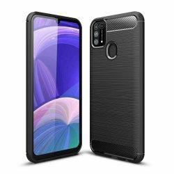 "Etui ""Carbon Case"" za Samsung Galaxy M31, črna barva"