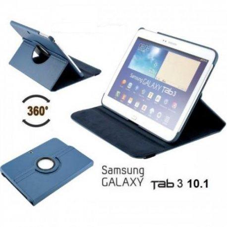 Torbica za Samsung Galaxy TAB 3 10.1 (P5200,P5210) Vrtljiva 360 Book Cover , Modra barva