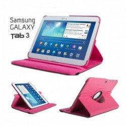 Torbica za Samsung Galaxy TAB 3 10.1 (P5200,P5210) Vrtljiva 360 Book Cover , Pink barva