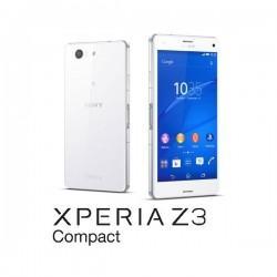 Silikon etui za Sony Xperia Z3 Compact +Folija ekrana Bela mat barva