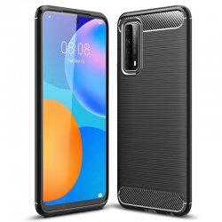 "Etui ""Carbon Case"" za Huawei P Smart 2021, črna barva"