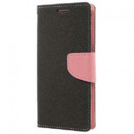 "Preklopna Torbica ""Fancy"" za Huawei P30 Lite, Črna-pink barva"