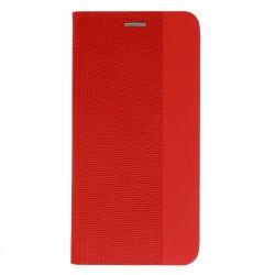 "Preklopna torbica ""Sensitive Book"" za Samsung Galaxy A12, rdeča barva"