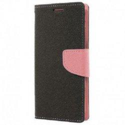 "Preklopna torbica ""Fancy"" za Samsung Galaxy A30, črna/pink barva"