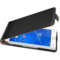 Torbica za Sony Xperia Z3 Compact Preklopna + Zaščitna folija ekrana ,Črna barva