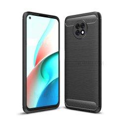 "Etui ""Carbon Case"" za Xiaomi Redmi Note 9 5G, črna barva"