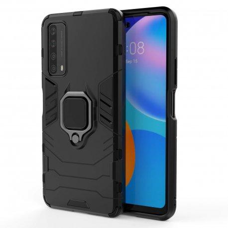 "Etui ""Ring Armor"" za Huawei P Smart 2021, črna barva"