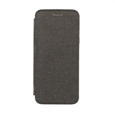 Preklopna torbica Venus COTTON za Huawei Y7 Prime 2018, črna barva