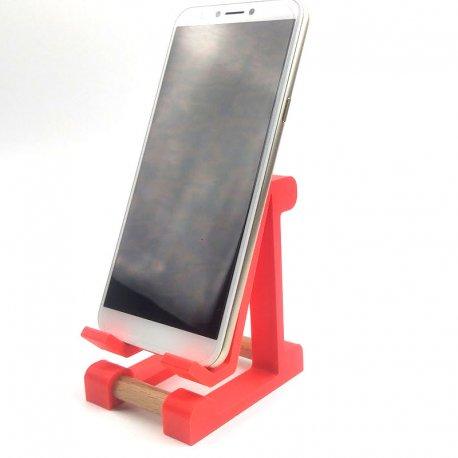 Univerzalni namizni podstavek za telefon, neon rdeča barva