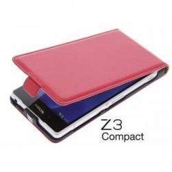 Preklopna Torbica za Sony Xperia Z3 Compact+ Zaščitna folija ekrana ,Rdeča barva