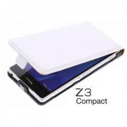 Preklopna Torbica za Sony Xperia Z3 Compact+ Zaščitna folija ekrana ,Bela barva