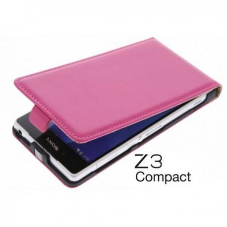 Preklopna Torbica za Sony Xperia Z3 Compact+ Zaščitna folija ekrana ,Pink barva