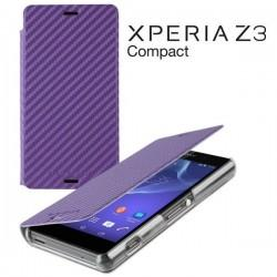 Torbica za Sony Xperia Z3 Compact Preklopna ,Book Case - Carbon Vijola Barva