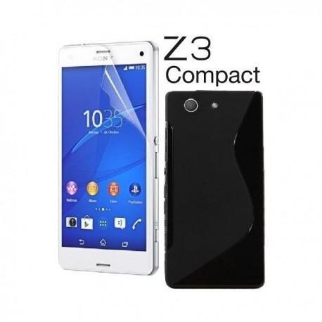 Silikon etui za Sony Xperia Z3 Compact +Folija ekrana Črna barva