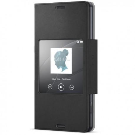 Preklopna Torbica Original za Sony Xperia Z3 Compact Smart Cover - Črna Barva SCR26 Sony