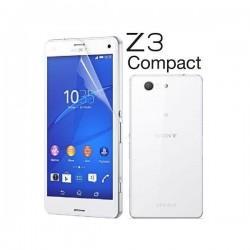 Silikon etui za Sony Xperia Z3 Compact +Folija ekrana Prozorna barva