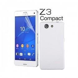 Silikon etui za Sony Xperia Z3 Compact +Folija ekrana Bela barva