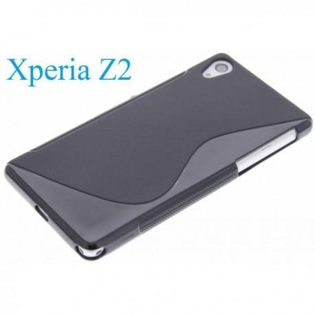 Silikon etui za Sony Xperia Z2 +Folija ekrana , Črna barva