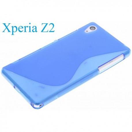 Silikon etui za Sony Xperia Z2 +Folija ekrana , Modra barva