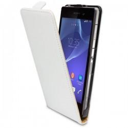 Torbica za Sony Xperia Z2 Preklopna Bela barva+Folija ekrana