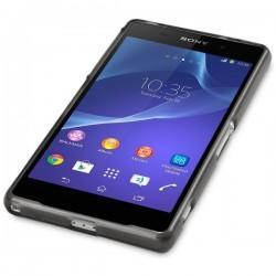 Silikon etui za Sony Xperia Z2 +Folija ekrana Prozorno temna barva