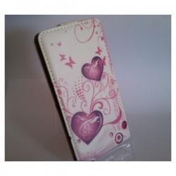 Torbica za Sony Xperia Z2 Preklopna + Zaščitna folija ekrana ,Lady -Pink Heart