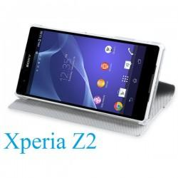 Torbica za Sony Xperia Z2 Preklopna ,Book Case - Bela Barva SMA5141W