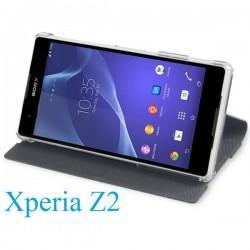 Torbica za Sony Xperia Z2 Preklopna ,Book Case - Carbon Črna Barva SMA5141CF